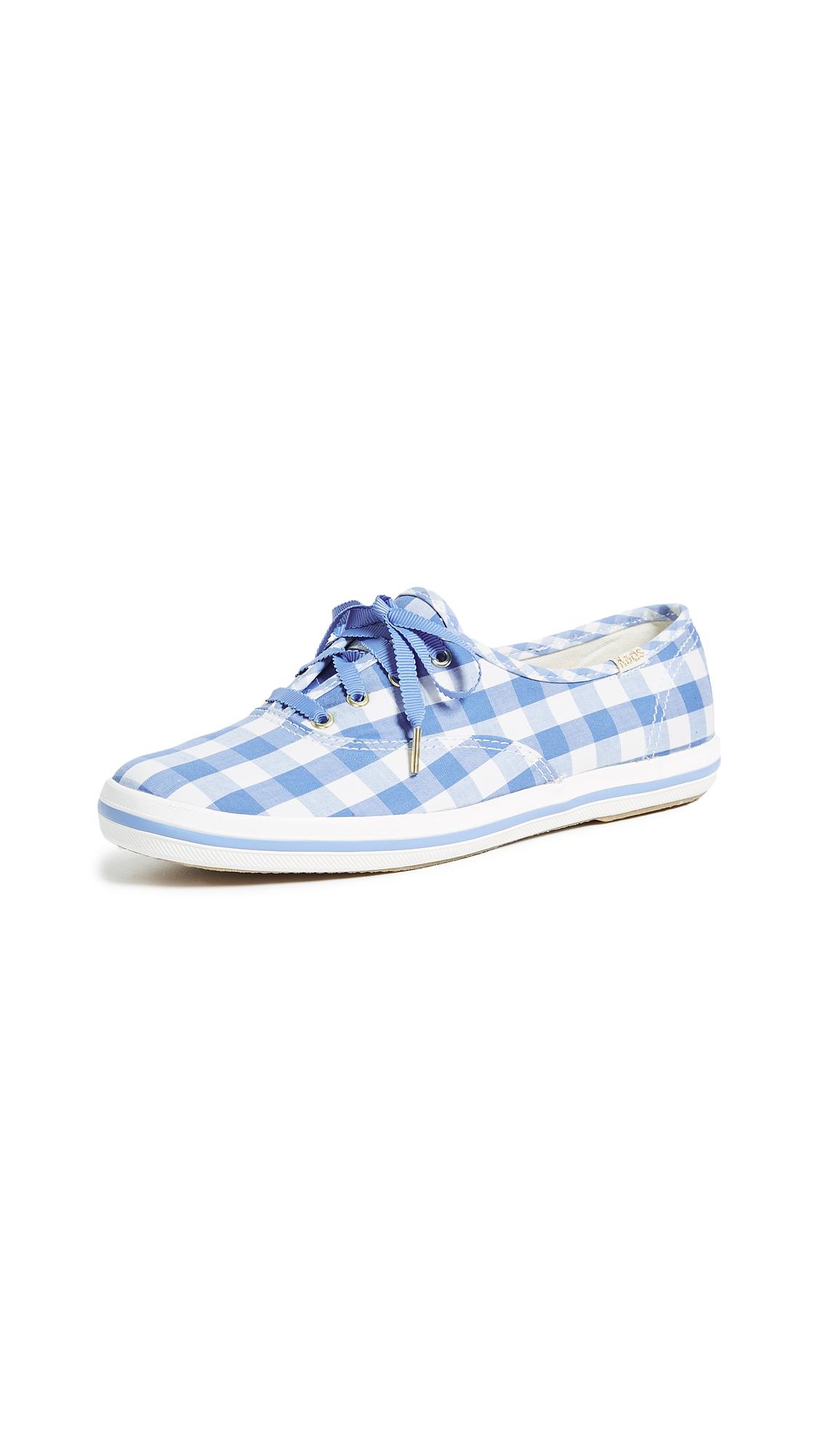 Keds x Kate Spade New York Gingham Sneakers - Periwinkle