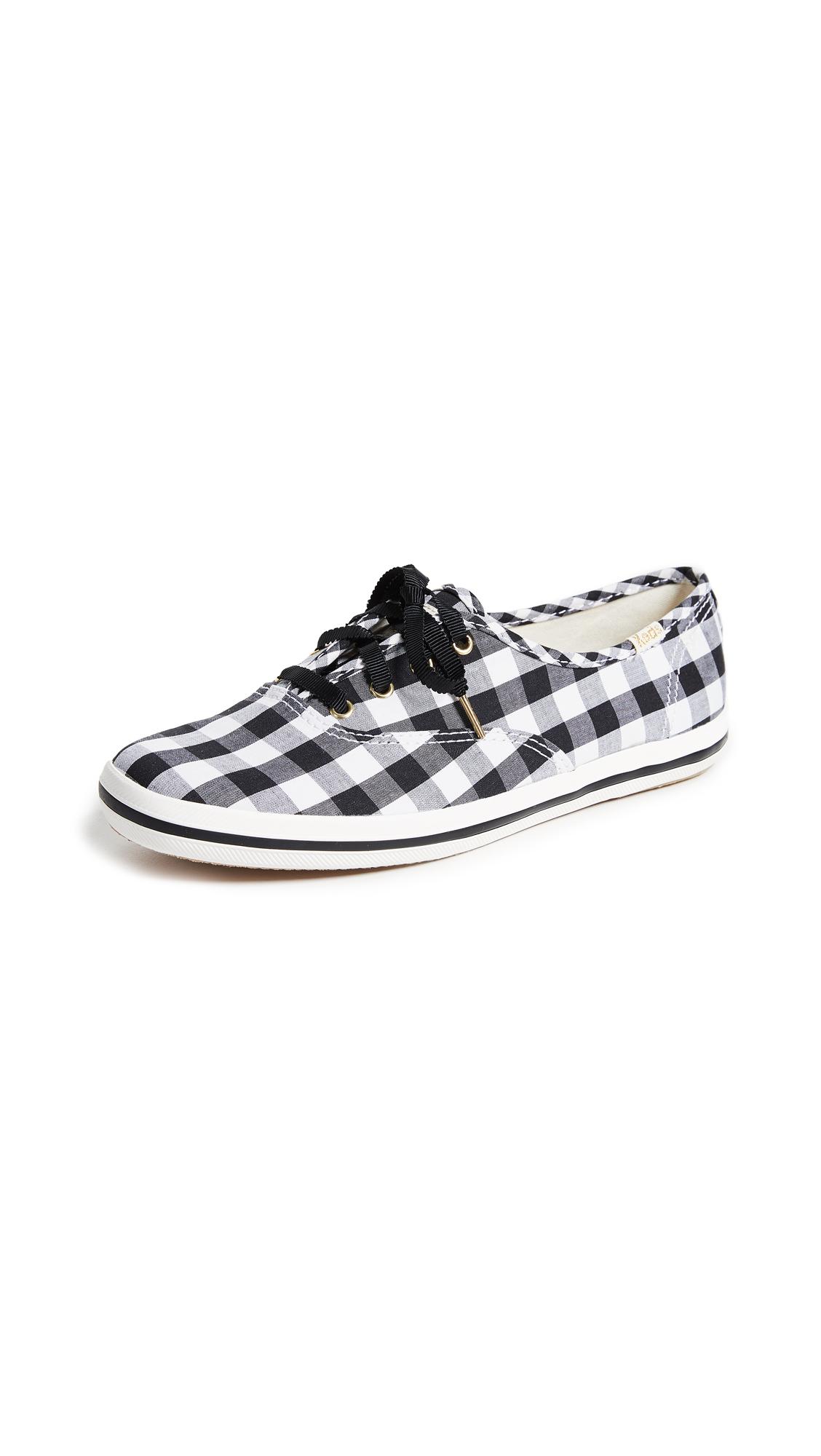 Keds x Kate Spade New York Gingham Sneakers - Black
