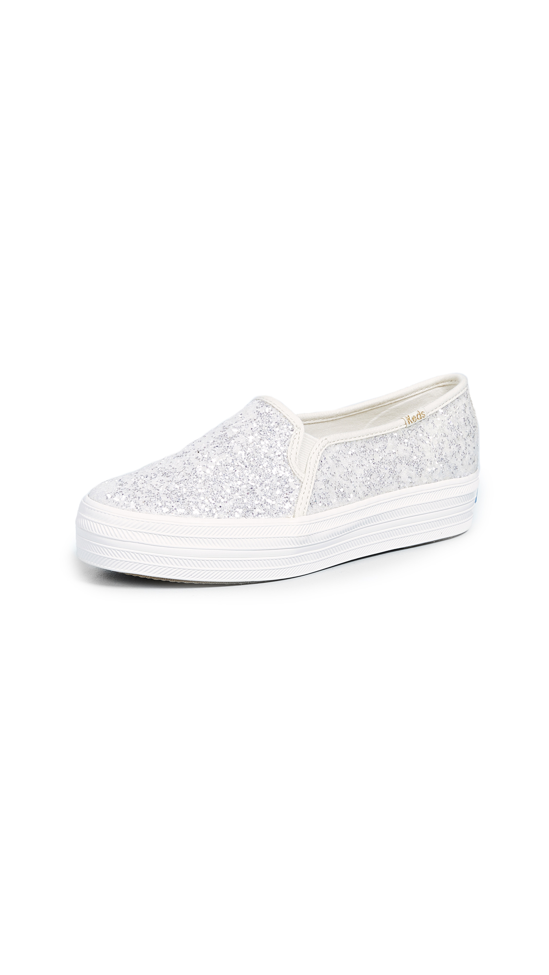 Keds x Kate Spade Triple Decker Slip On Sneakers - White