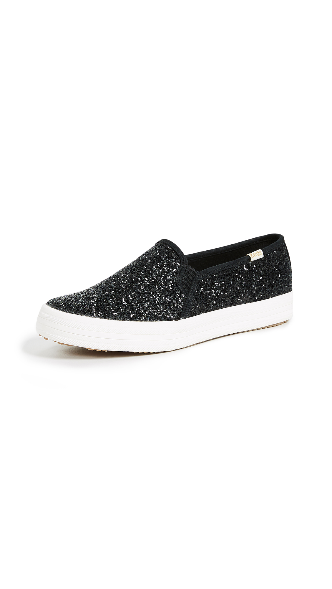 Keds x Kate Spade Double Decker Slip On Sneakers - Black