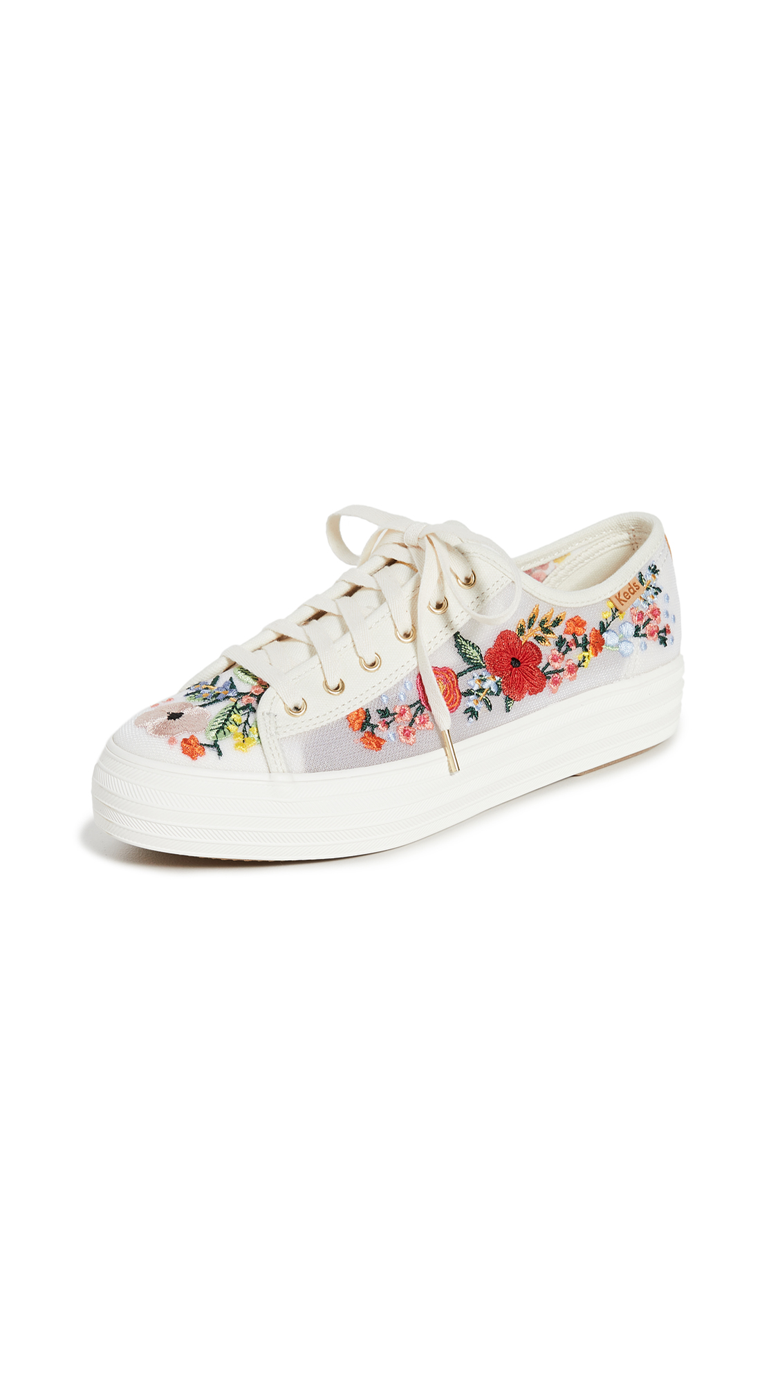 Keds Triple Kick Embroidered Mesh Sneakers – 30% Off Sale