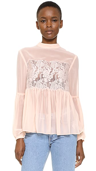 Keepsake Sundream Lace Top - Shell