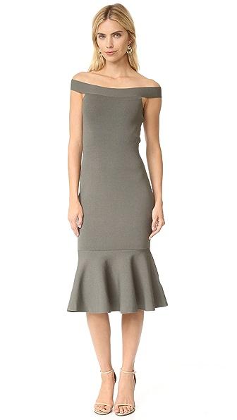 Keepsake If Only Knit Dress - Khaki