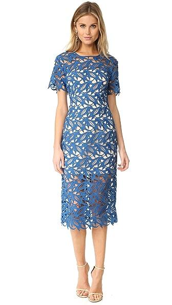 Keepsake The Moment Lace Dress - Marine Blue