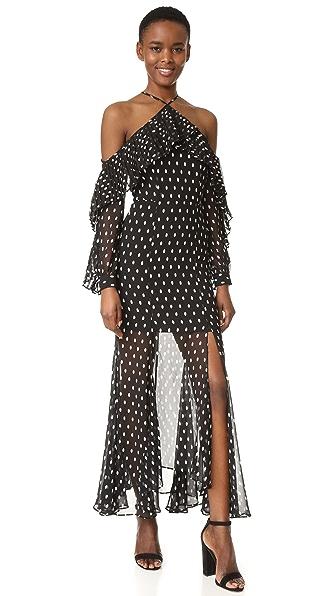 Keepsake Don t Wait Maxi Dress - Spot Print Dark