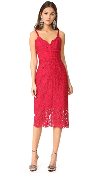 Keepsake Same Love Lace Dress In Lipstick Red