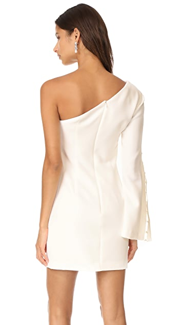 Keepsake Signals One Shoulder Mini Dress
