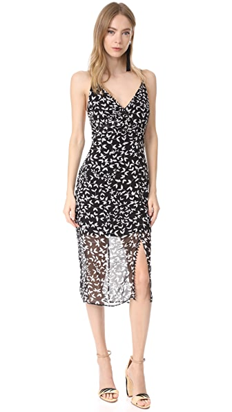 Keepsake Come Around Dress - Dark Ivy Print