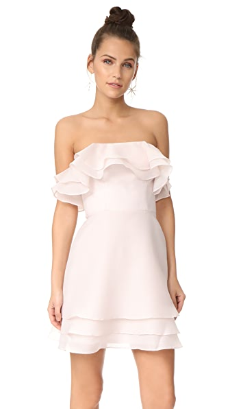 Keepsake Float Mini Dress - Oyster