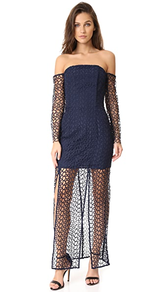 Keepsake Countdown Lace Gown - Navy