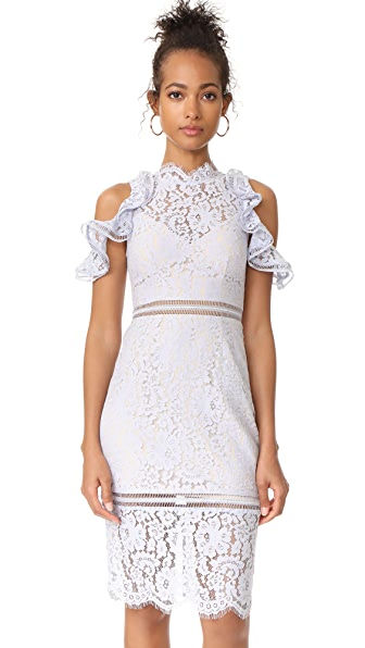 Keepsake Oblivion Lace Dress - Pale Blue
