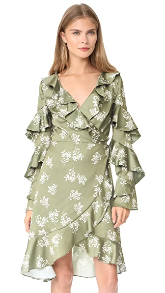 Keepsake Love Bound Wrap Dress - Sage Floral