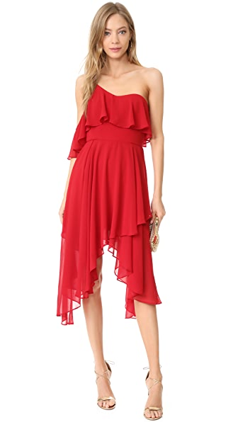 Keepsake Downtown Dress In Red