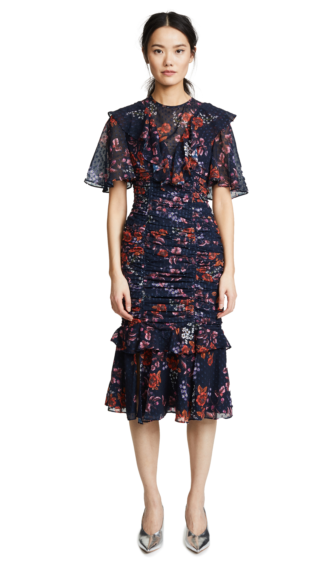 Keepsake Need You Now Midi Dress In Navy Floral