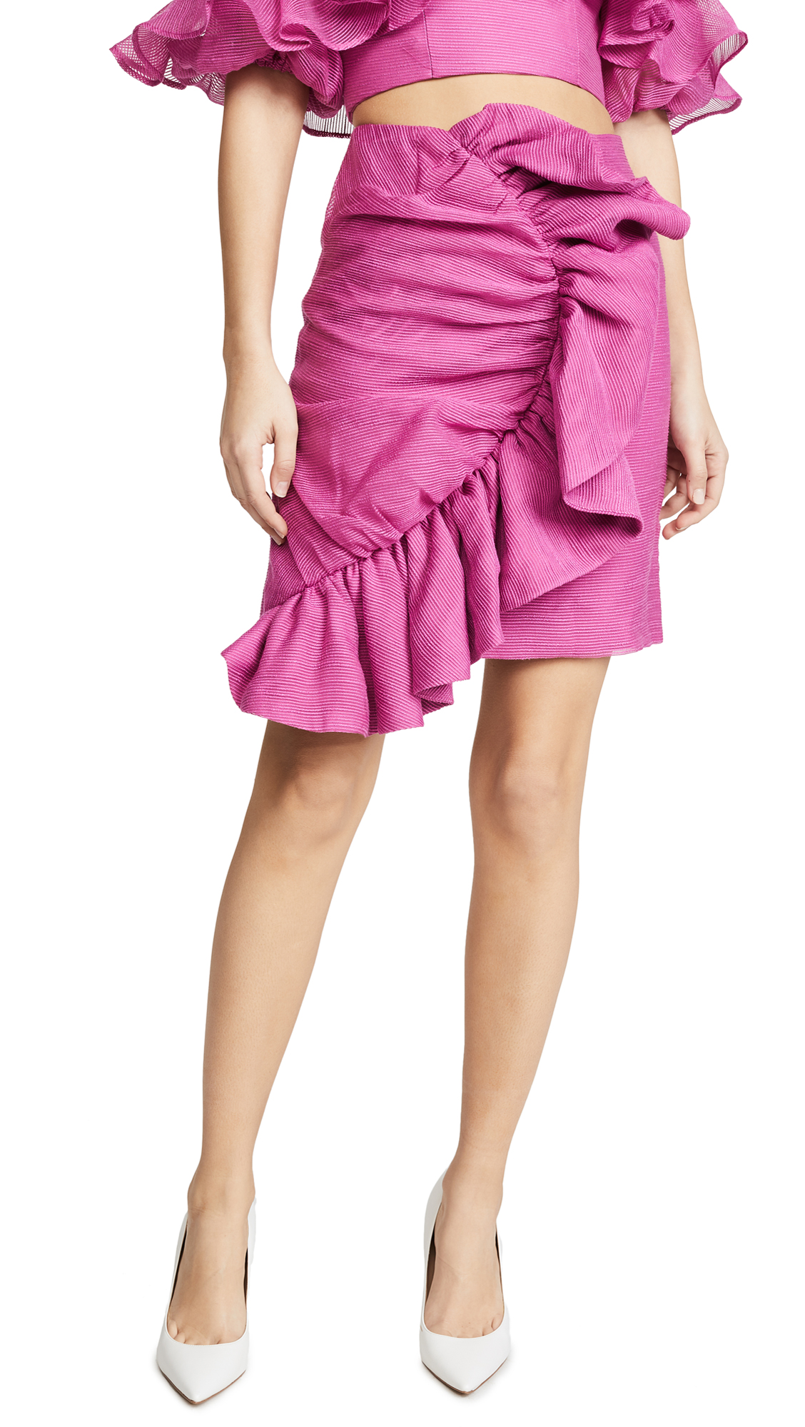 Keepsake Only Love Skirt In Fuchsia