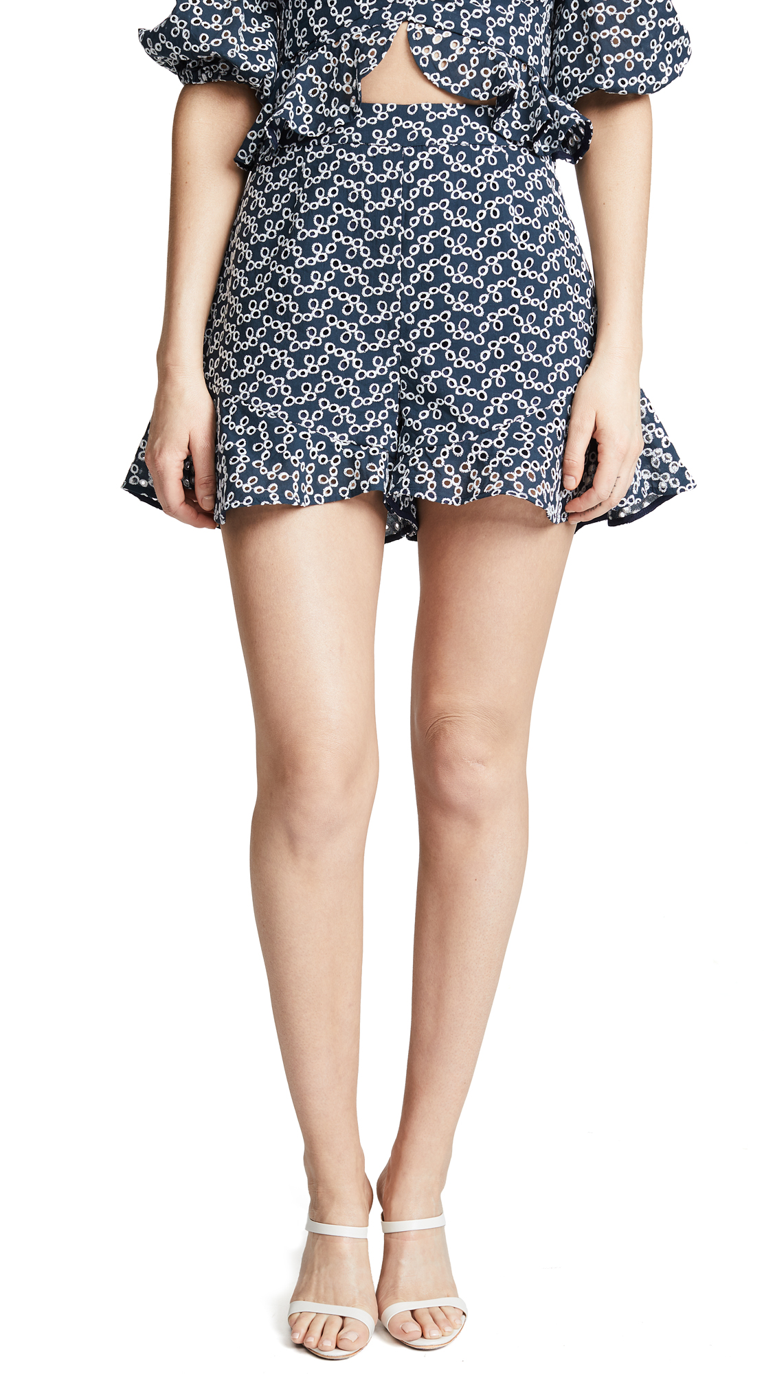 Keepsake Blossom Shorts In Navy With Ivory