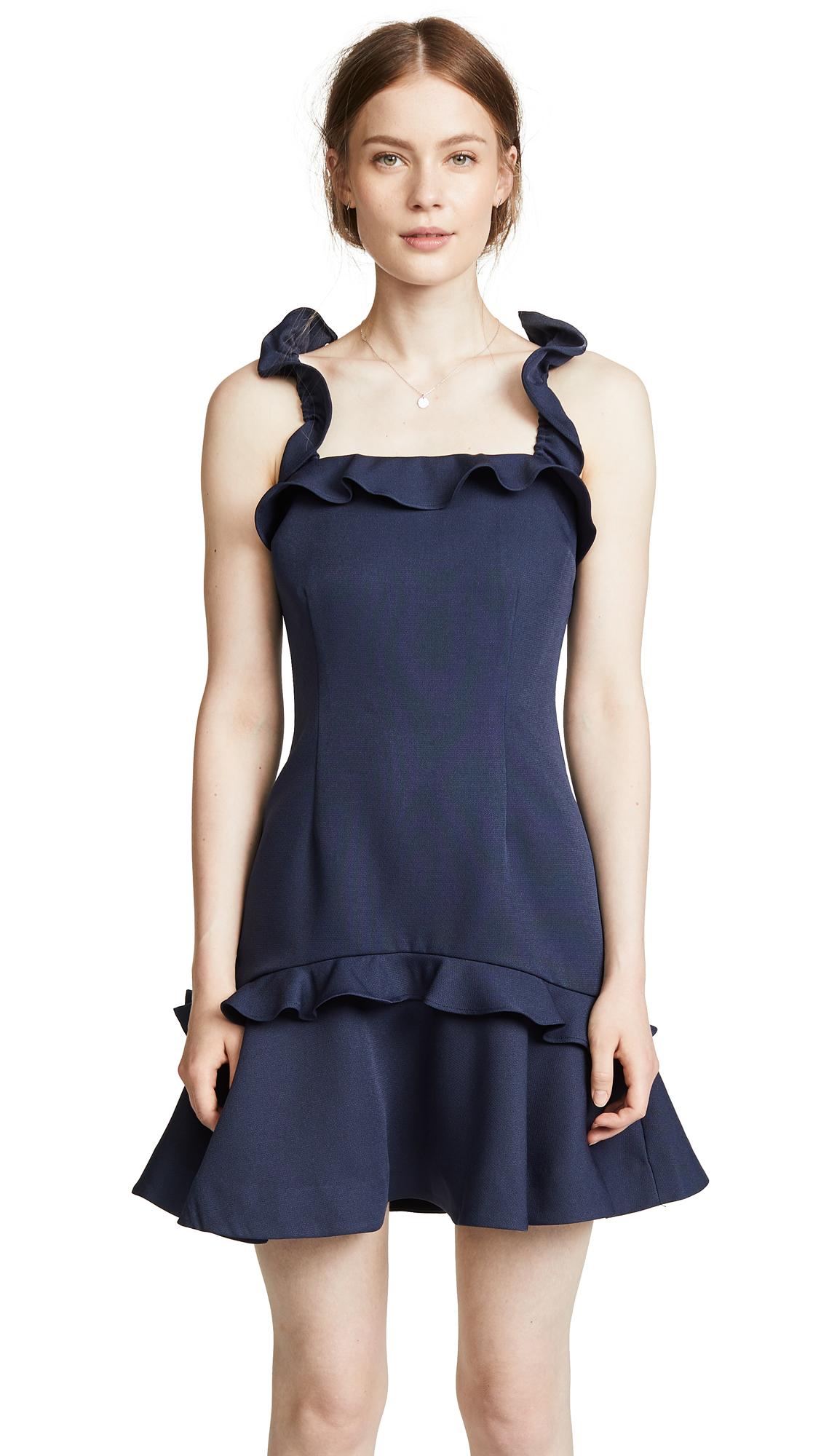 Keepsake Escape Mini Dress In Navy