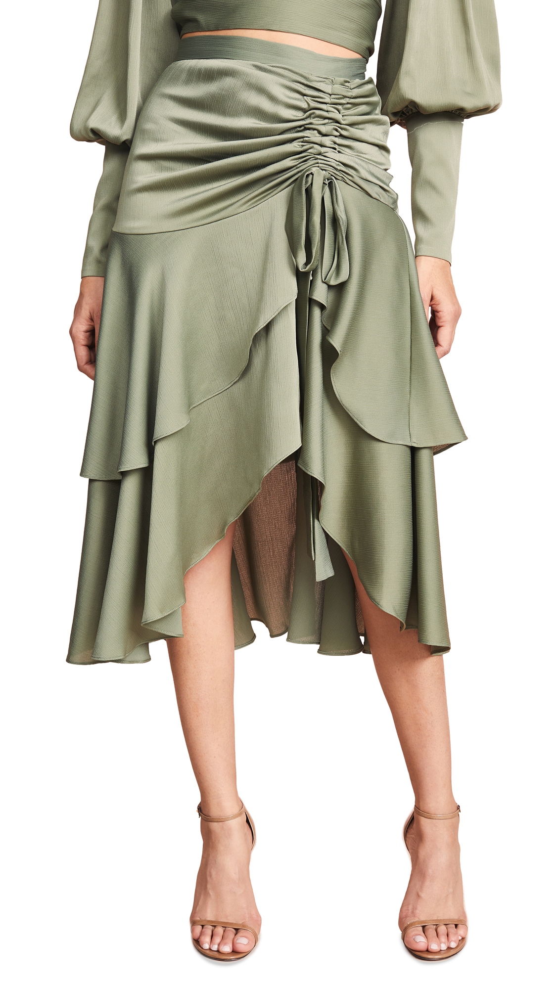 Keepsake Oceans Skirt In Khaki