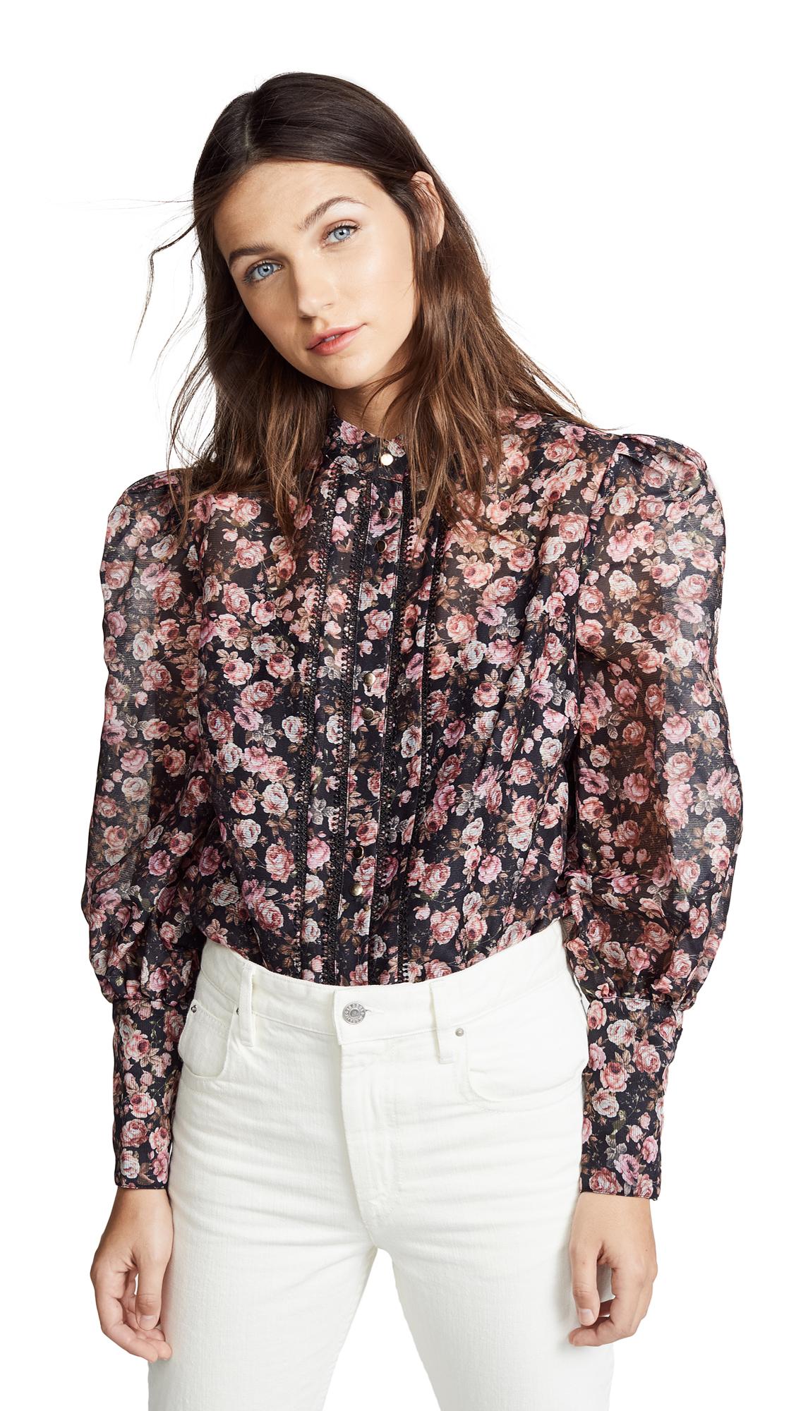 KEEPSAKE One Love Top in Black Rose Floral