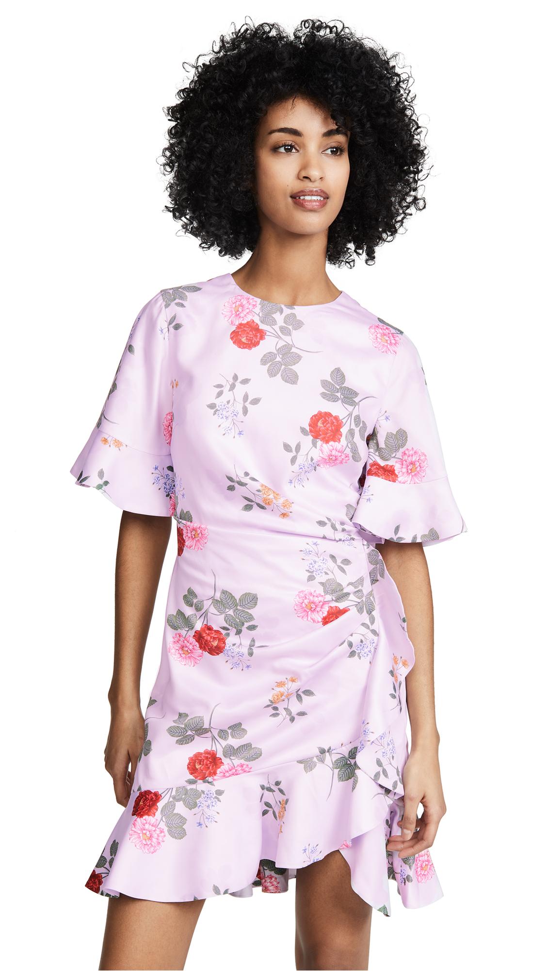Keepsake Pretty One Mini Dress - Lilac Floral