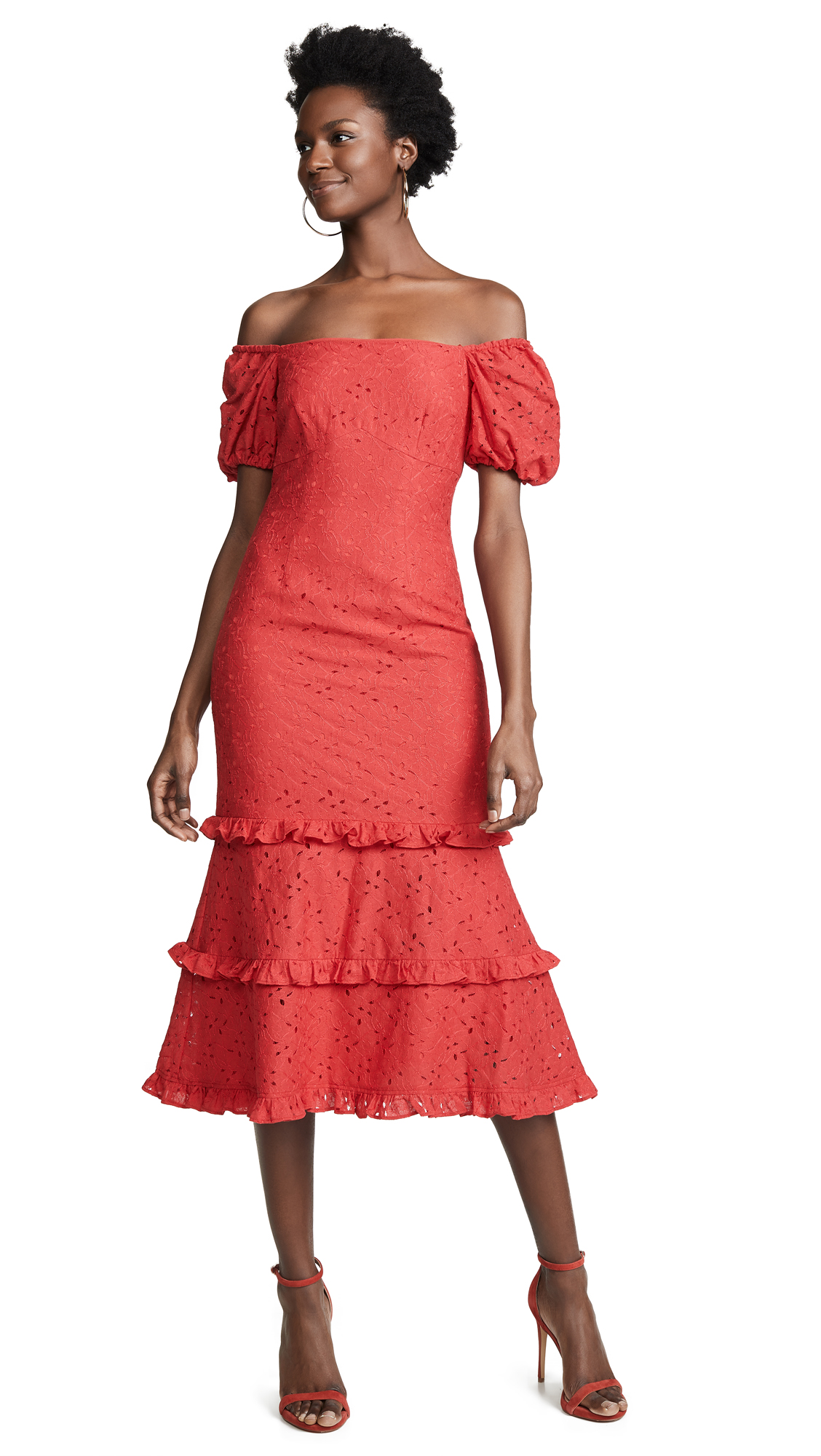 Keepsake Higher Lace Dress - Rouge