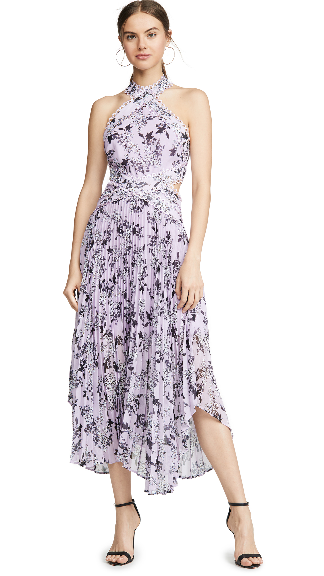 c425526c8f9 Luscious Dress in Lilac Floral