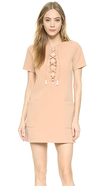 KENDALL + KYLIE Lace Up Safari Dress