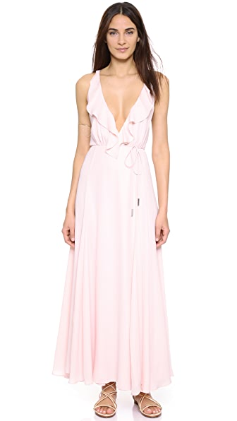 Kendall + Kylie Ruffle Wrapped Maxi Dress - Soft Pink