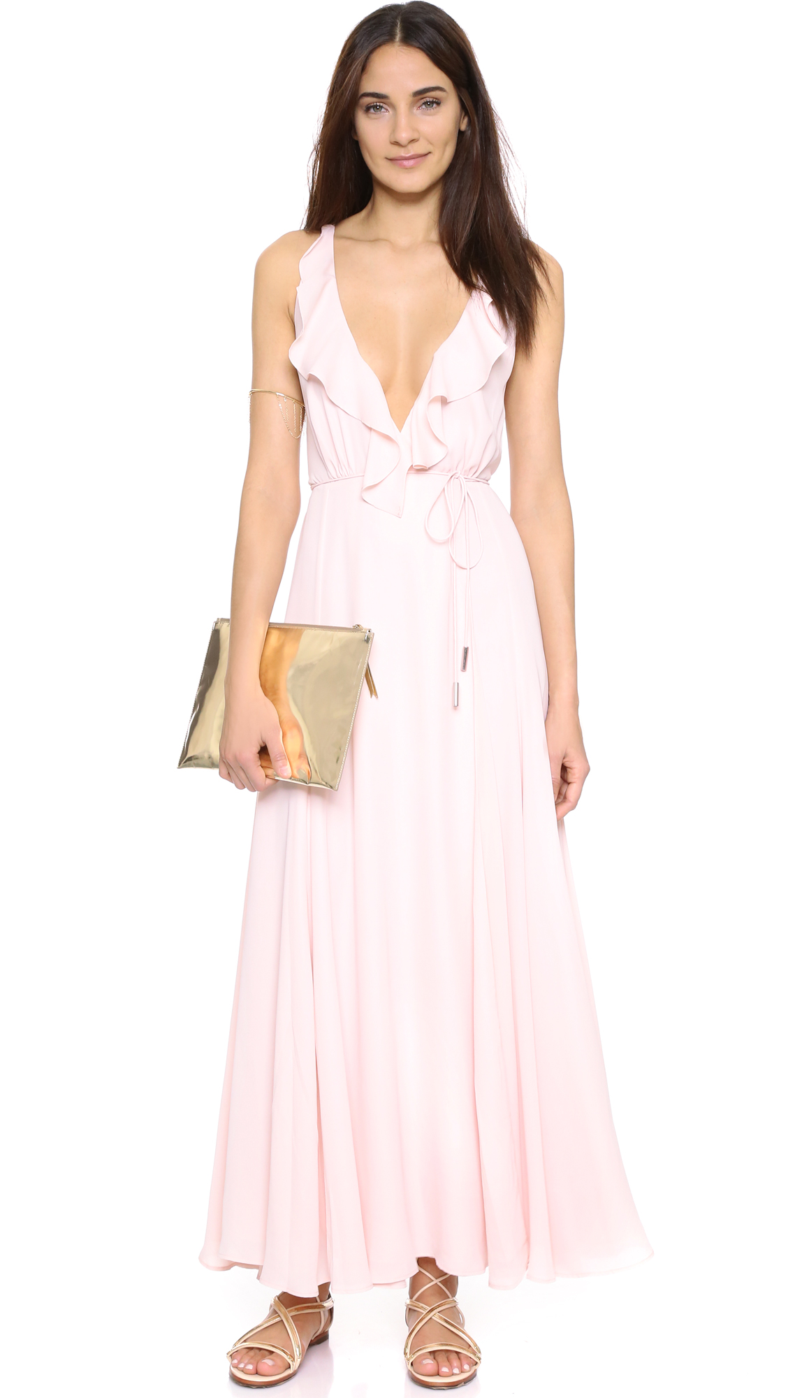 KENDALL KYLIE Ruffle Wrapped Maxi