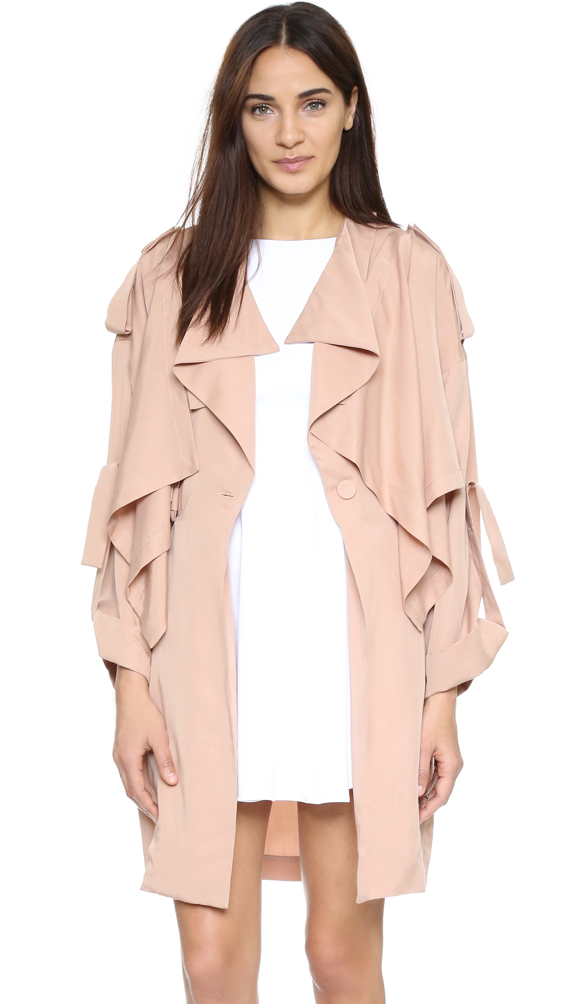 a45b5eb30176 KENDALL + KYLIE Lightweight Trench Coat