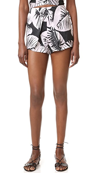 KENDALL + KYLIE Pleated Silk Shorts