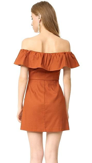 KENDALL + KYLIE Ruffle Off Shoulder Dress