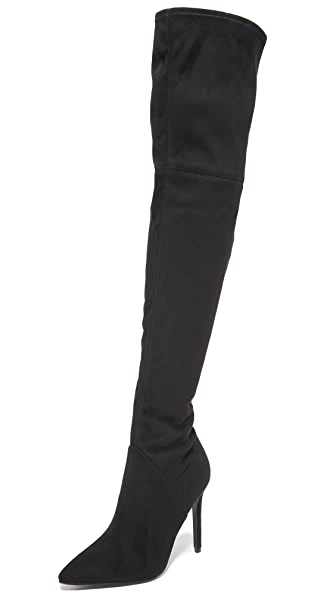 KENDALL + KYLIE Ayla Thigh High Boots - Black