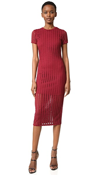 KENDALL + KYLIE Laser Cut Midi Dress