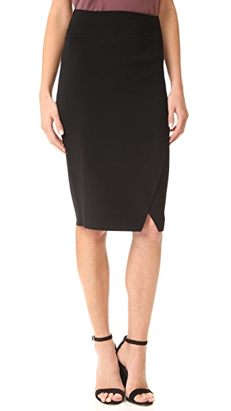 KENDALL + KYLIE Compact Overlap Pencil Skirt