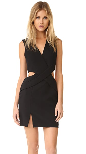 KENDALL + KYLIE Deep Plunge Cutout Dress