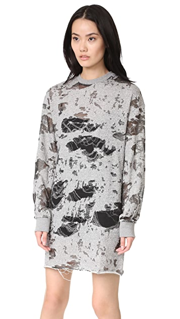 KENDALL + KYLIE Deconstructed Terry Tunic Dress