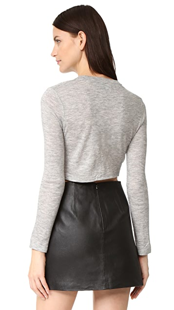 KENDALL + KYLIE Knotted Long Sleeve Tee