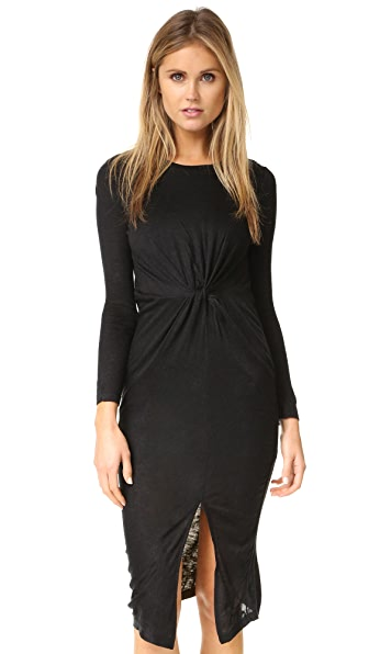 KENDALL + KYLIE Knotted A-Line Dress