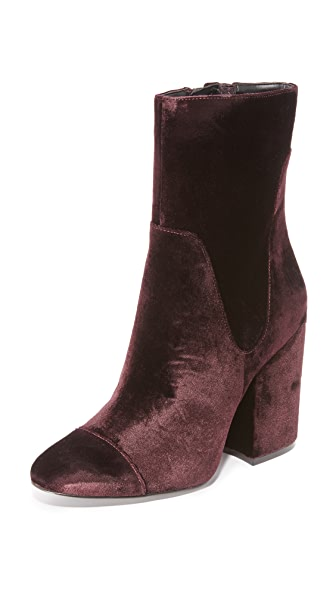 KENDALL + KYLIE Brooke2 Booties - Dark Purple