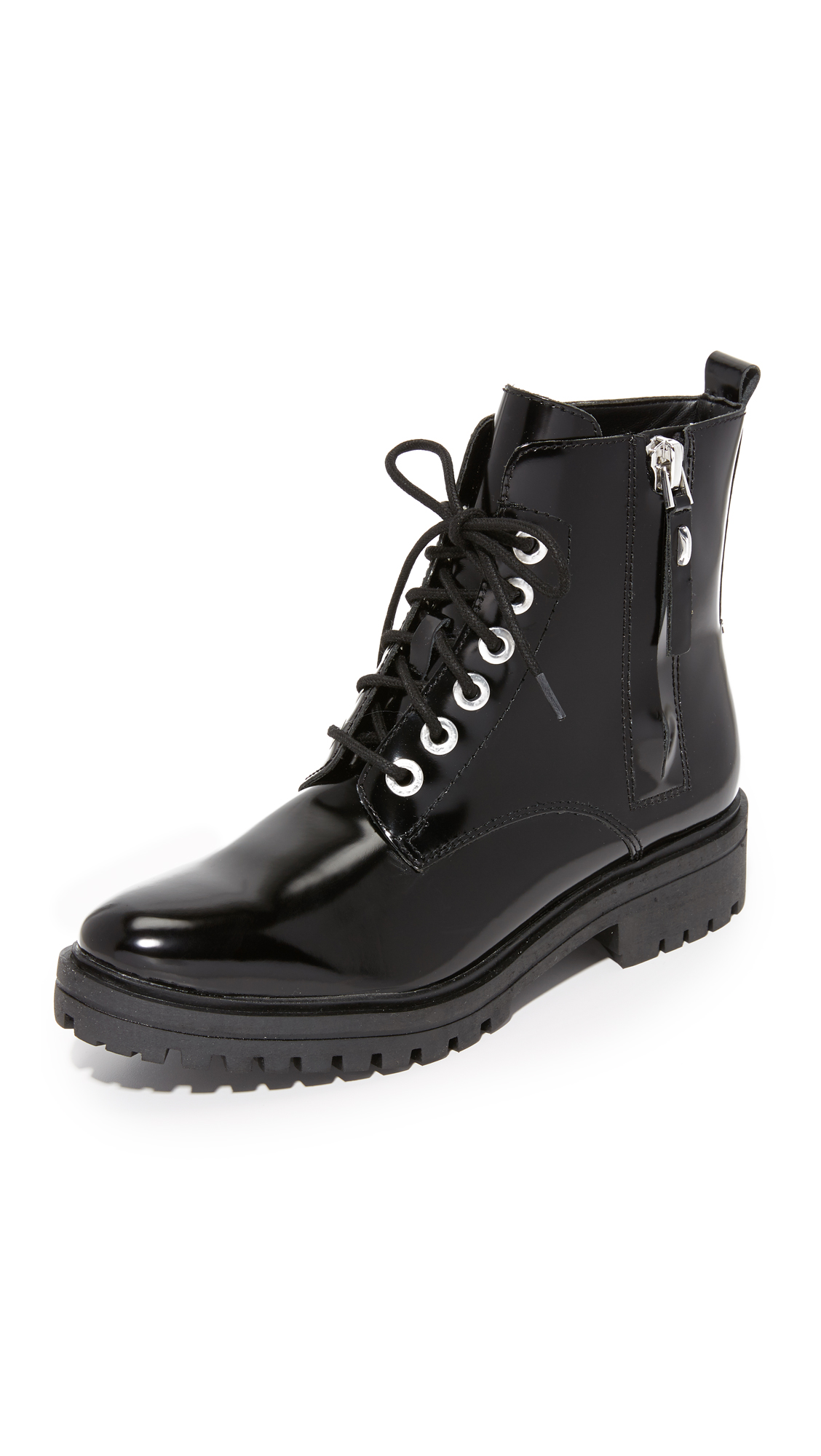 Photo of Kendall + Kylie Jordana Combat Boots Black - KENDALL + KYLIE online