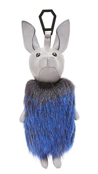 KENDALL + KYLIE Norman Bag Charm In Cement Grey/Cobalt Blue