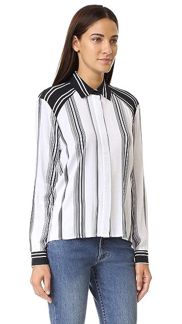 KENDALL + KYLIE Stripe Blouse