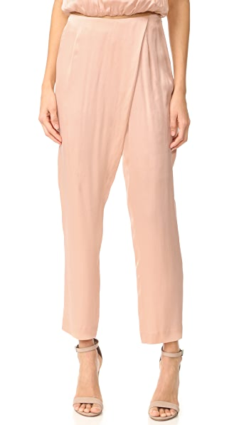KENDALL + KYLIE Silk Draped Trousers - Rose Cloud
