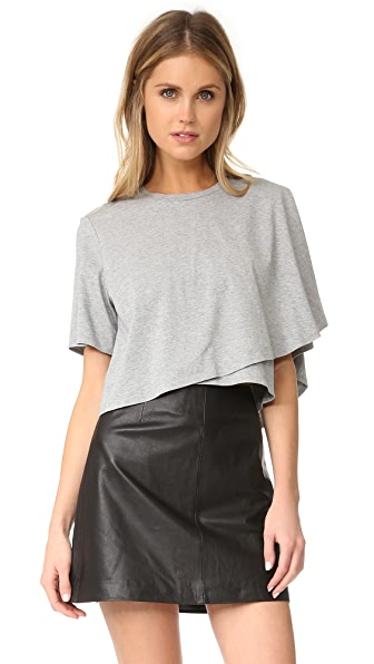 KENDALL + KYLIE Draped Crop Tee