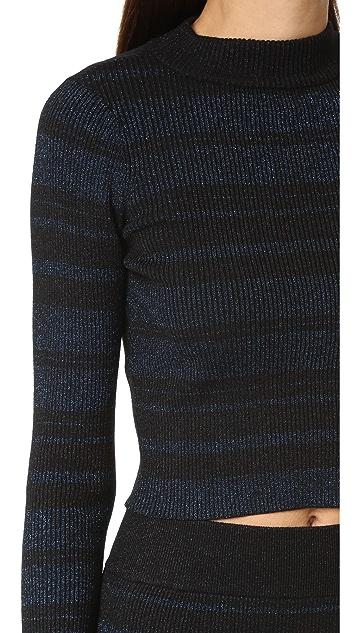 KENDALL + KYLIE Stripe Long Sleeve Sweater