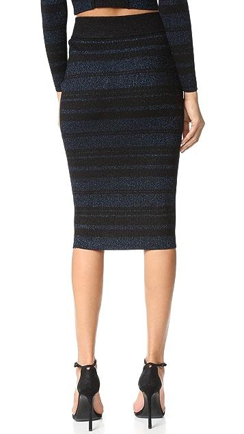 KENDALL + KYLIE Stripe Pencil Skirt