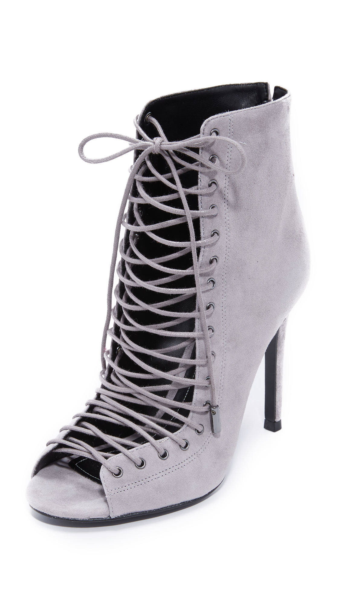 Kendall + Kylie Ginny Lace Up Heels - New Smoke