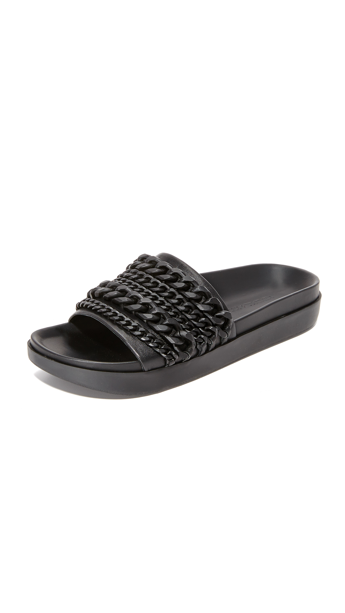 Tonal chains add a subtle edge to these sporty KENDALL + KYLIE sandals. Molded footbed and rubber sole. Leather: Sheepskin. Imported, China. This item cannot be gift boxed. Measurements Platform: 0.75in / 20mm. Available sizes: 5.5,6,6.5,7,7.5,8,8.5,9,9.5,10