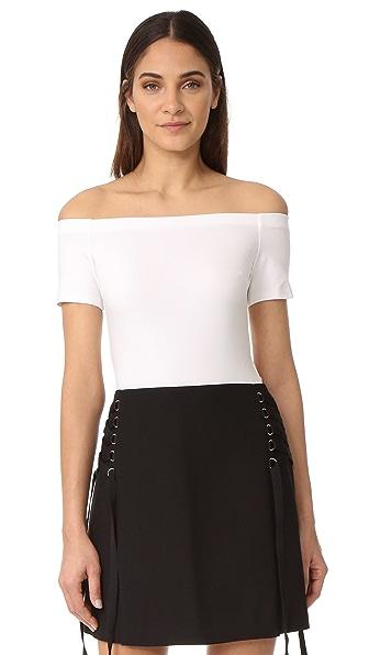 KENDALL + KYLIE Off Shoulder Bodysuit - Bright White